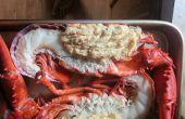 Split Crabcake homard farci