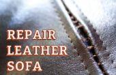 Sofa en cuir de réparation couture