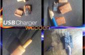 En bois prise de chargeur Micro USB