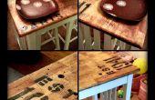 Anique style île/table de cuisine retouche sur un budget