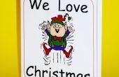 Faire un petit livre de Noël plié