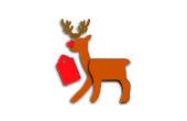 Carte-cadeau de Noël renne