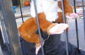 Construire un actionnés pneumatiquement Yeti dans une Cage pour une maison hantée d'Halloween