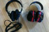 Sony MDR-7506s à l'intérieur de 3 M Tekk 30db bruit réduction cache-oreilles