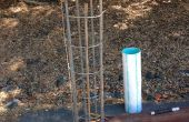 Faire des barres d'armature de Cages sur place pour des piles en béton