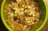 Sain, chaleureux, rapide et délicieux petit-déjeuner regorge de nutriments
