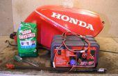Enlèvement d'électrolyse rouille - réservoir de carburant moto