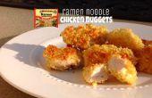 Pépites de poulet de nouilles ramen