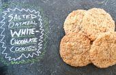 Salé biscuits chocolat blanc à l'avoine