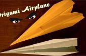 Origami avion - avion de papier