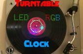 Horloge LED RGB tourne-disque