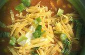 Soupe de poulet simple Enchilada