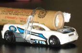 Incendie une voiture Hotwheels avec une fusée et de la vitesse de mesure.