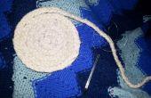 Taie d'oreiller upcycled et reste tissu tressé bol
