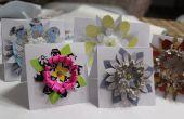 Fleur en papier shabby-chic