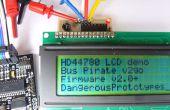 LCD hd44780 Conseil adaptateur I2C pour le Bus Pirate
