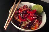 Congélateur de Table en 10 minutes : Thai crevettes sautés avec riz au coco