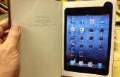 Faire un iPad Mini livre avec compartiment de rangement