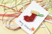 Comment faire une carte de Noël joyeux avec papier Quilling Jersey