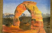 Parc national des arches dessin au crayon de couleur