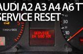 Rappel de service de réinitialisation dans Audi A2, A3, A4, A6, TT