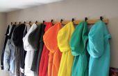 Rangement rack pull/manteau pour les petits espaces
