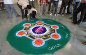 Mon travail de couleur... Rangoli... Quelques étapes...