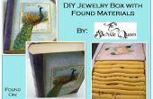Boîte à bijoux DIY avec des matériaux trouvés