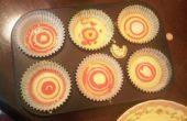 Cupcake spong arc-en-ciel
