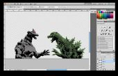 Laser Cut Godzilla vs MechaGodzilla pochoir
