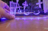 Écran d'Halloween laser Cut Edge Lit - j'ai fait à TechShop !