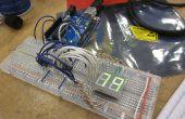 Arduino alimenté seg 7 LED d'affichage en utilisant Shift Registers - je l'ai fait à TechShop