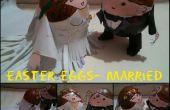 Couple de Pâques oeufs-mariage