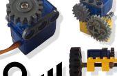 Servo-moteur converti au moteur (avec contrôle de vitesse & direction)