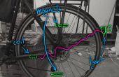 Feux de vélo sécurité induction magnétique. Batterie et conception presque invisible, bon marchée, imperméable à l'eau libre !