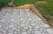 Forme en Place béton patio pavé