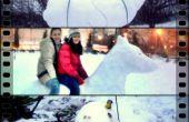 Le SuperSnowman, le chien de la neige et la tortue se préparait à sauter