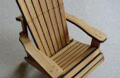 Chaise Adirondack en bambou (maquette)