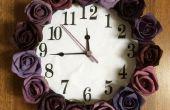 Horloge murale de Purple