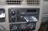 Stock stéréo de voiture radio faux-out