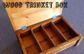Upcycled chêne palette bois bijou Box