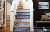 Décoration de l'escalier dans le Style marocain