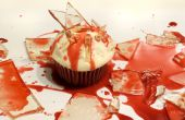 Sanglante des éclats de verre Candy Cupcakes pour l'Halloween