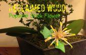 Bois récupéré : Fleur de bâton de Popsicle