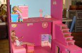 Maison de poupée de boîtes et de cartons