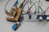 [Projet Arduino] #Remote surveillance de valeur de capteur à ultrasons à l'aide d'ioShield-a & serveur Cloud