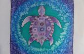 Peinture sur soie « Purple Turtle »