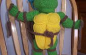 Teenage Mutant Ninja Turtle crochet poupée marionnette