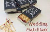 Chalkboard Matchbox faveurs de mariage