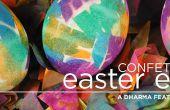 Oeufs de Pâques teints confettis
